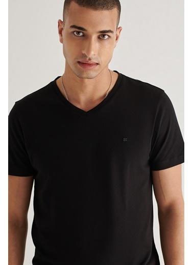 Avva Erkek  Ultrasoft Tişört A11B1173 Siyah